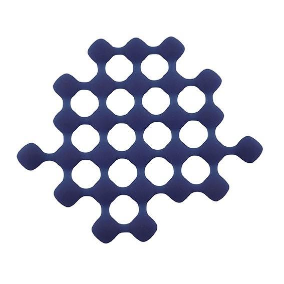 S- PLAT TRIVET SILICONE BLEU FONCE 24.5X21X1CM REF 861381 PROMO FIN17