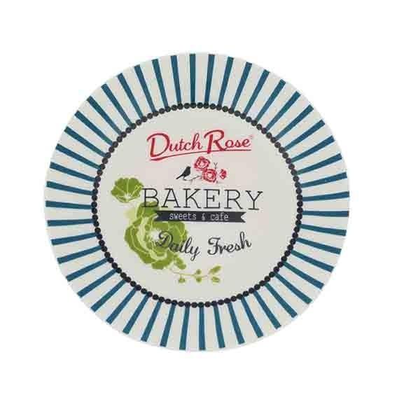ASSIETTE BAKERY RAYURE BLEU 12 CM DUTCH ROSE REF 174356/175954