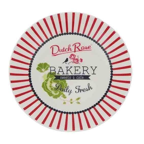 ASSIETTE BAKERY RAYURE ROSE 12 CM DUTCH ROSE REF 174355/175953