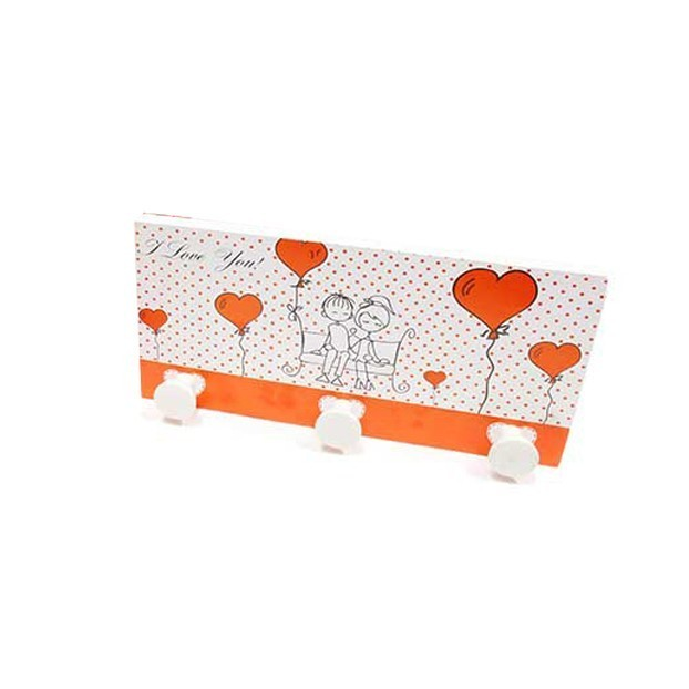 PORTE OBJET 3 ACCROCHES COLLECTION AMOUR
